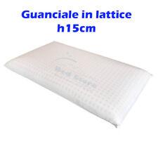 CUSCINO NEXT GUANCIALE IN LATTICE ALTO 15CM ELASTICO TRASPIRANTE ANALLERGICO