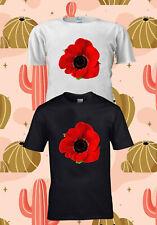Remembrance Day Poppy Lest We Forget T-SHIRT TSHIRT UNISEX MEN WOMEN 1423