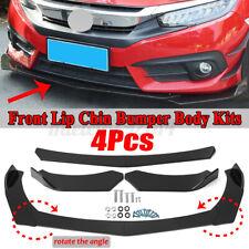 Universal Black Front Bumper Spoiler Lip Body Kit Splitter Chin Decoration UK