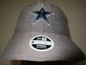 New Era 9Twenty Dallas Cowboys NFL Football Cap Hat Women's gray NWT