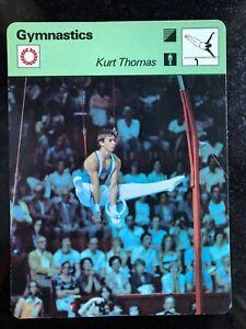 KURT THOMAS 1979 Sportscaster Card #70-21 GYMNASTICS