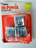 Focal Hi-Power Flashcubes Lot of 3 Flashbulbs - 12 Flashes