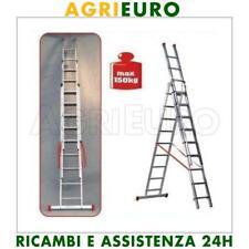 scala alluminio telescopica Facal Genia 3 rampe 11 gradini mt 8,34 - allungabile