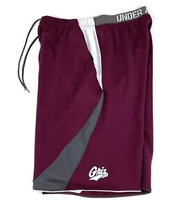 Under Armour University Of Montana Grizz Basketball Shorts Sz Large Men's