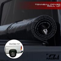 For 2004-2007 Silverado/Sierra 5.8 Ft Short Bed Lock & Roll Soft Tonneau Cover