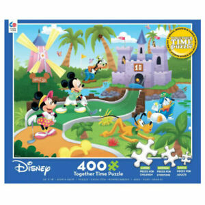Disney Together Time 400 Piece Puzzle Miniature Golf Mickey Minnie Donald Goofy