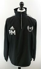 Adidas Landore Afc Mens Jumper Sweater 42/44 Xl Black Polyester 1/4 Zip