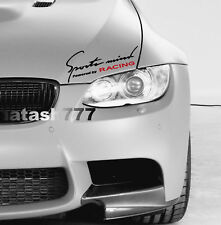 Sports mind Powered by RACING Performance Motorsport Car Vinyl Decal Sticker