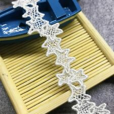 1 yd Star Embroidered Lace Edge Trim Ribbon Wedding Applique DIY necklace Craft