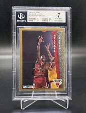 1992-93 Fleer Magazine Sheet Michael Jordan #32 BGS 7 LOOKS BETTER RARE