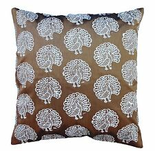 """45x45 Cm Decorative Cushion Cover Peacock Pillow Cover Brown Polyester 18x18"""""""