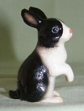 Klima Miniature Porcelain Animal Figure Black & White Rabbit Sitting Up L180