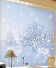 Wandsticker Schneeflocken Rentier Weihnachtsdekoration Winterdeko
