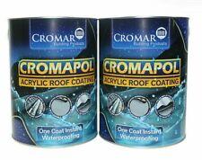 Cromapol Acrylic Roof Coating Grey Sealant Repair Waterproofing 5Kg x 2