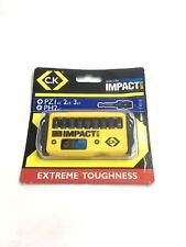 CK Tools T4510 Blue Steel Impact Bit Set of 10 - PZ/PH