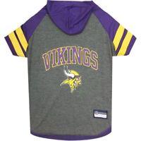 Minnesota Vikings NFL Sporty Dog Pet Hoodie T-Shirt Sizes XS-L