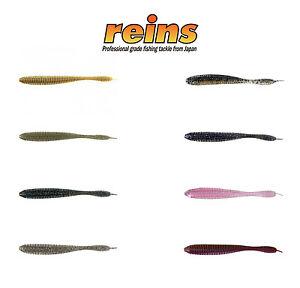 """Reins Japan 3.5"""" Bubbling Shaker Soft Plastic Finesse Bait - Select Color(s)"""