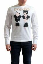 Dsquared2 Men's Multi-Color Graphic Long Sleeve T-Shirt US L IT 52