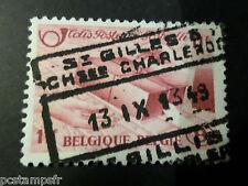 BELGIQUE 1948, timbre COLIS POSTAUX 302 TRAINS, oblitéré, PARCEL POST USED STAMP