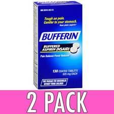 Bufferin Buffered Aspirin 325 MG Coated Tablets 130 Count