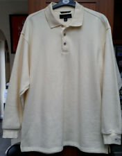 Greg Norman Golf Para Hombre Mezcla de algodón Jersey de manga larga en tamaño grande-Xlarge