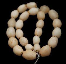 ANCIENT NEOLITHIC Quartz Stone Bicone Shaped Beads_Set of 25 Pcs.