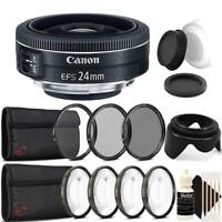 Canon EF-S 24mm f/2.8 STM Lens with Accessory Kit For Canon DSLR Cameras