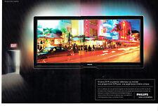 Publicité Advertising  117  2009  Philips (2pages) téléviseur Cinéma 21/9