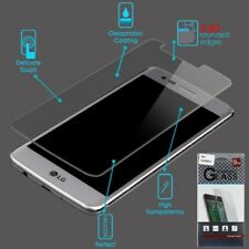 For LG Q7 & Q7+ Premium Tempered Glass Screen Protector Curved Guard 2.5D +Hook