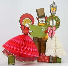 Vintage 1975 Christmas Table Cardboard Die Cut Centerpiece Pop-Out Dress & Tree