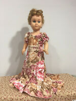 "Hawaiian Train Floral Party Dress Fits 19"" Chatty Cathy Doll Clothes"