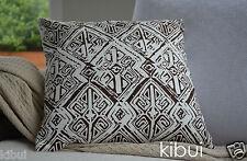 Brown Aztec Cushion Cover Throw Pillow Case Home Decor 100% Cotton 45cm Kibui