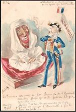 Roberty. Maroc. Moulay Hafid. Atrocités marocaines. Aquarelle originale. 1910