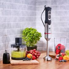 HESKA Hand Blender 1000W Food Mixer Processor Whisk Handheld 3 in 1 Black