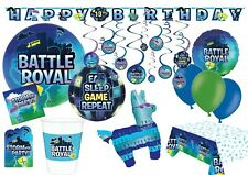 BATTLE ROYAL Birthday Party Computer Gaming Tableware Decorations Fortnite