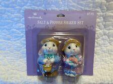 Vintage Hallmark Easter Bunnies Salt & Pepper Shaker Set 3 Inch New on Card