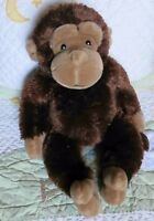 "Koala Baby Monkey Plush Brown w Tan Face Ears & Feet Stuffed Fluffy Toy 16"" EUC"