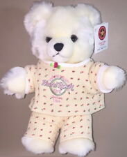 "Hard Rock Cafe Guam Usa 2003 Rosebud Girl 12"" Tall Teddy Bear Plush w/ Mint Tag!"
