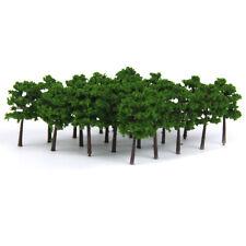 Pack of 40pcs Dark Green Plastic Model Trees Train Railroad Scenery 1:250