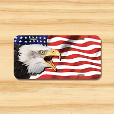 EAGLE USA Flag License Plate Vehicle Auto Tag American FREE SHIP Patriotic Bird