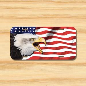 EAGLE USA Flag License Plate Vehicle Auto Tag American FREE SHIP Patriotic Bird