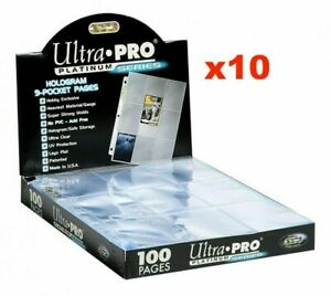 Ultra Pro 9-Pocket Trading Card Pages - Platinum Series - X10 NEW SLEEVES
