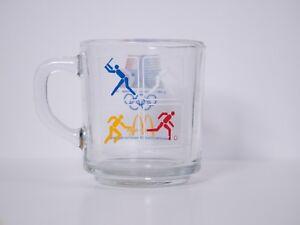 McDonalds 1984 LOS ANGELES Olympics Coffee/Tea Cup/Mug Glass