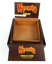 "Kahlua Corona wood Cigar Box with Tray - Diversion Stash - 7.5"" x 7.5"" x 3.5"""