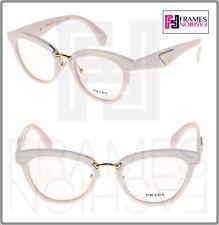 PRADA LEATHER ORNATE PR26SV Ivory Gold Eyeglasses RX Optical Frame 26S 51 mm