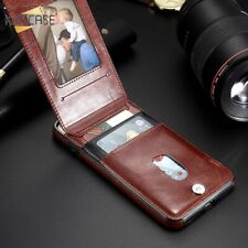 Vertical Leather Case For Iphone 11 Pro X XR XS Plus  Cover Wallet Card Luxury