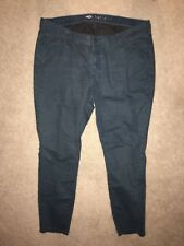 """Size 18 OLD NAVY 5 POCKET BLUE JEANS WOMENS TEAL WASH 29"""" INSEAM STRETCH"""
