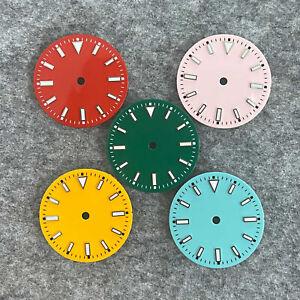 29MM Green Luminous Watch Dial for NH35/ETA2836/Miyota 8215 Watch Movement