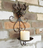 ANTIQUE STYLE CAST IRON STAG HEAD CANDLE HOLDER WALL MOUNT