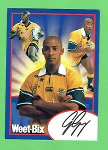 #D294. 2002/2003 GEORGE GREGAN WEETBIX  RUGBY UNION SIGNED MAXI CARD, WALLABIES